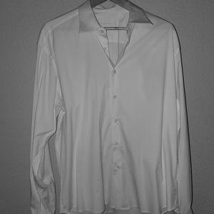 Prada mens white long sleeve dress shirt.